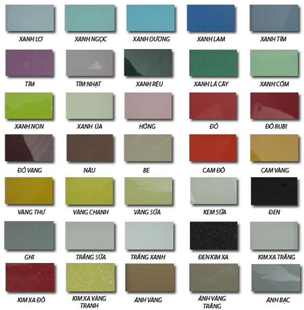 Sơn kính màu cường lực với màu sắc đa dạng